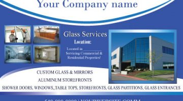 4x6 designed postcard Glass Company