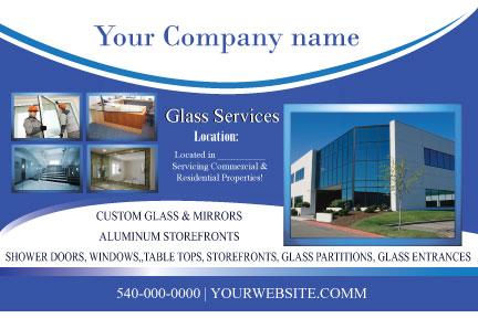 4x6 designed postcard Glass Company