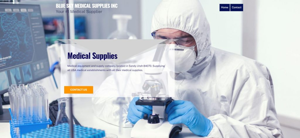 blue sky medical supplies inc