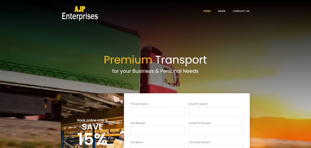 logistics carrier shipping websites