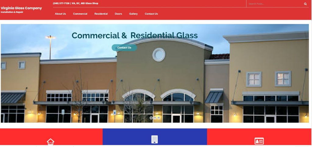 Glass Company Website Sale