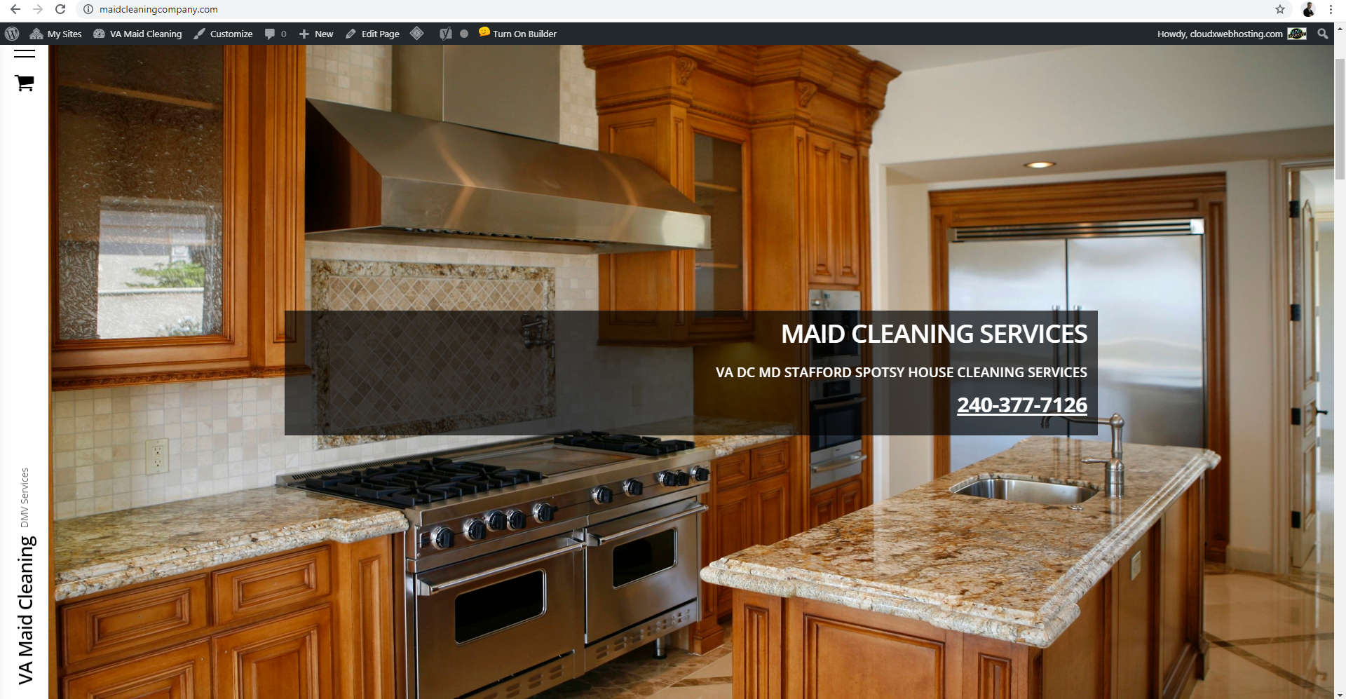 Maid House Cleaning Website